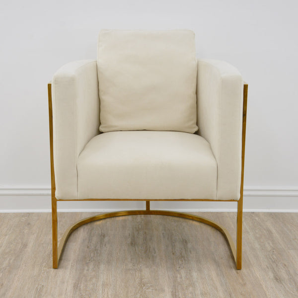 Paula Gold Chair- Lillian Home
