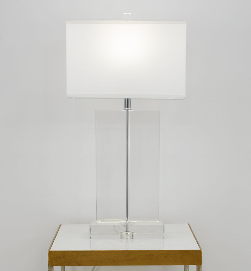 Realm Solid Crystal Table Lamp