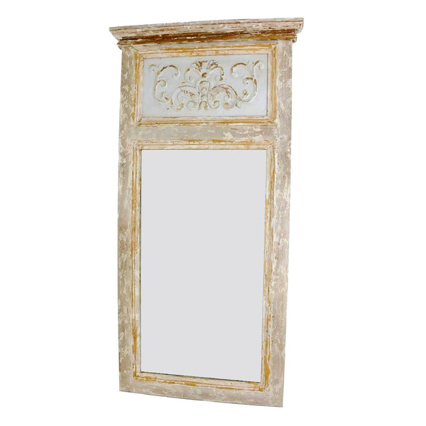 Romeo Carved Wood Mirror- Lillian Home