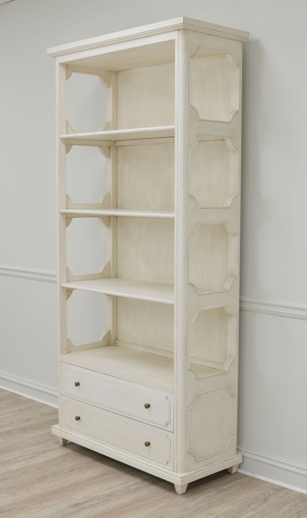 Samantha White Bookcase- Lillian Home