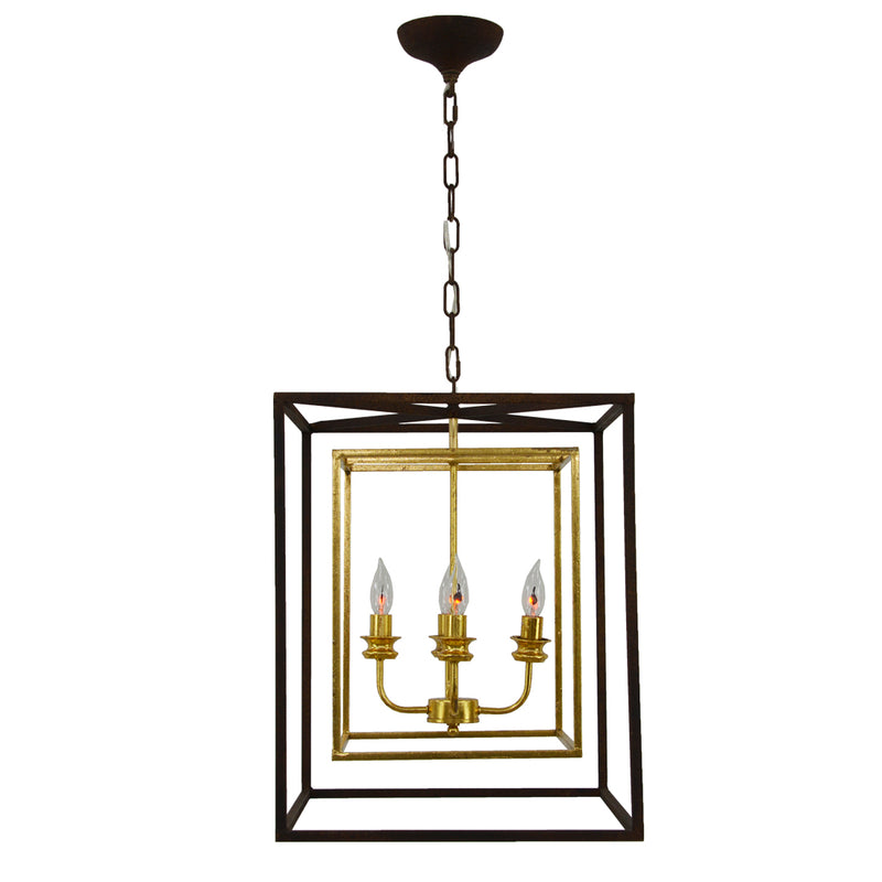 Sarah 4 Light Brown and Gold Fixture- Lillian Home