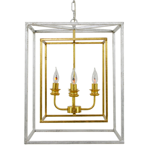 Sarah 4 Light Silver and Gold Fixture