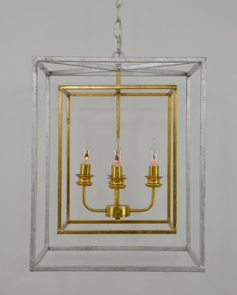 Sarah 4 Light Silver and Gold Fixture- Lillian Home