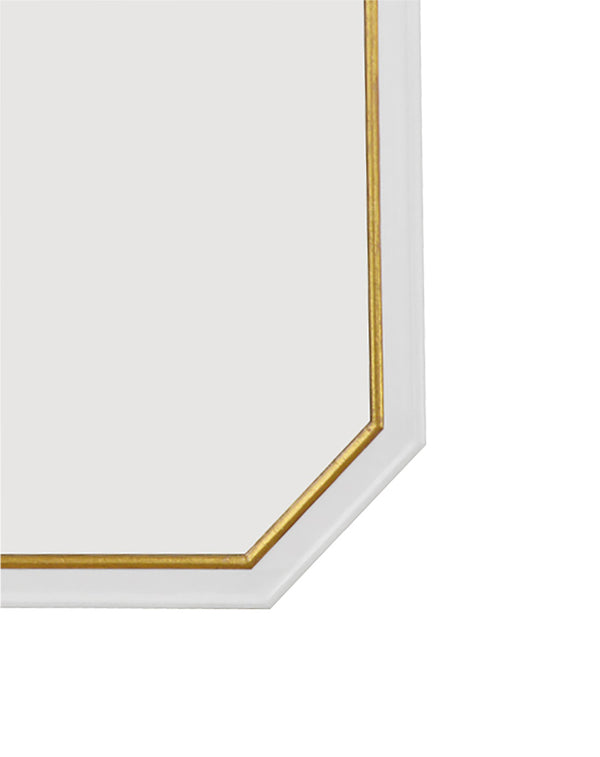 Selina White and Gold Wall Mirror- Lillian Home