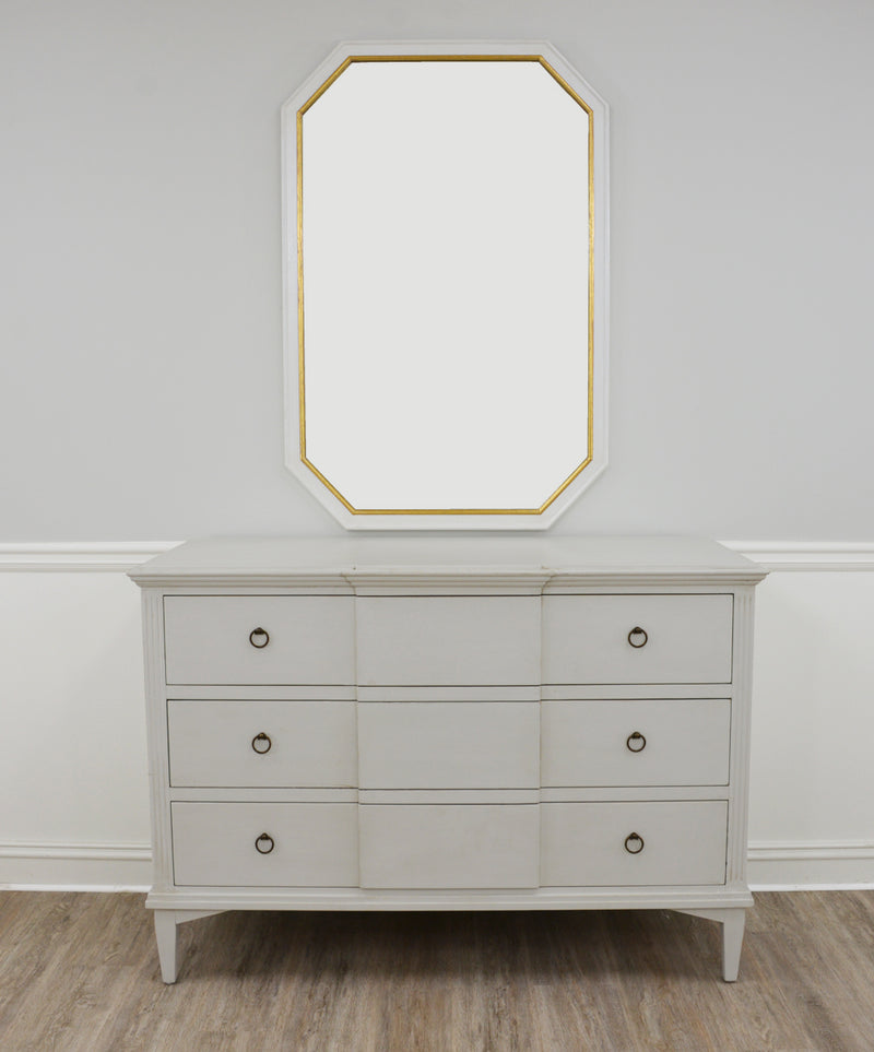 Louis Philippe Mirrors for Sale | Selina White and Gold Wall Mirror