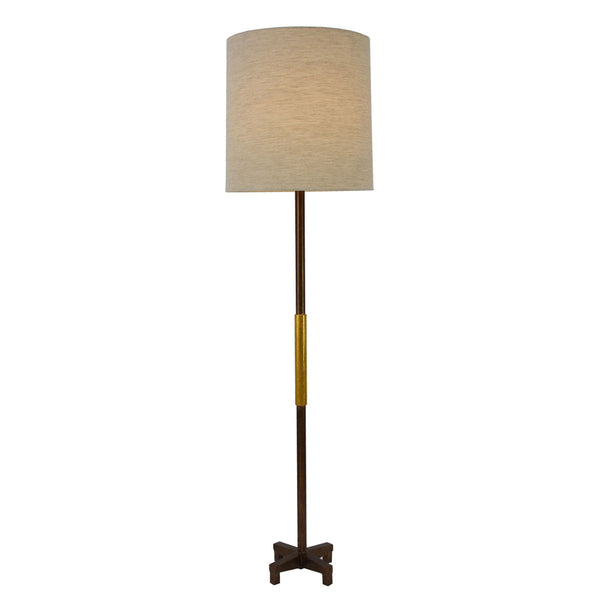 Seline Brown and Gold Floor Lamp- Lillian Home