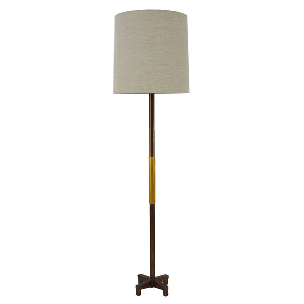 Seline Brown and Gold Floor Lamp