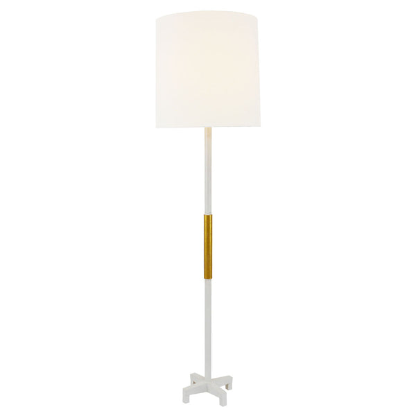 Seline White and Gold Floor Lamp- Lillian Home