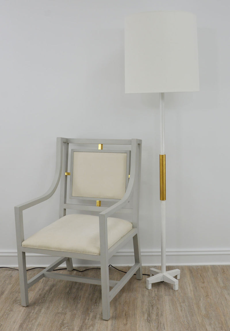 Seline White and Gold Floor Lamp