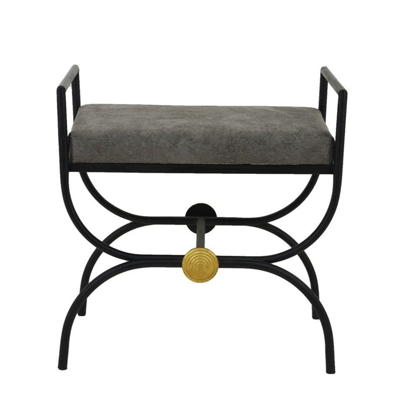 Sera Black and Gold Bench - Lillian Home