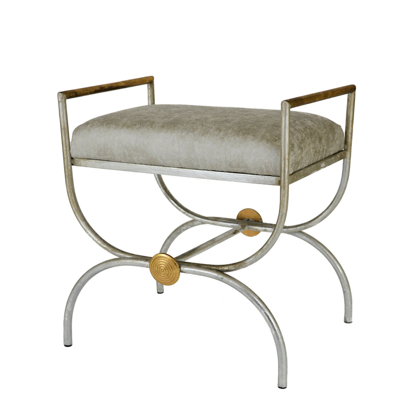 Sera Silver and Gold Bench - Lillian Home