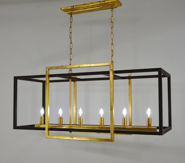 Soho 6 Light Rectangular Chandelier