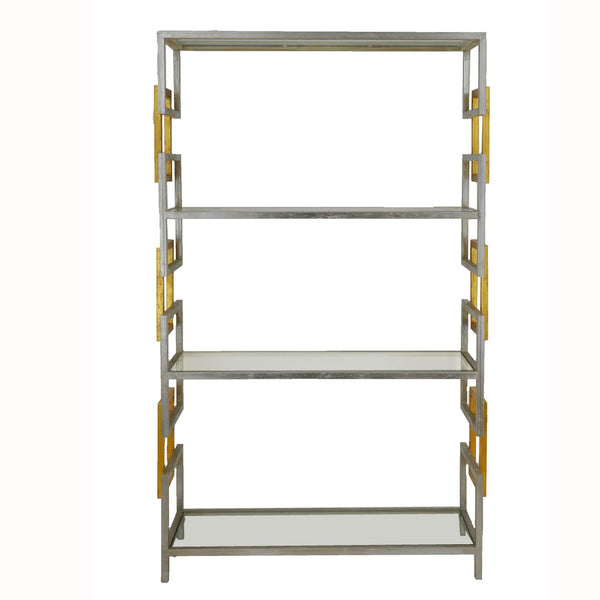 Sulu Silver and Gold Large Shelf- Lillian Home