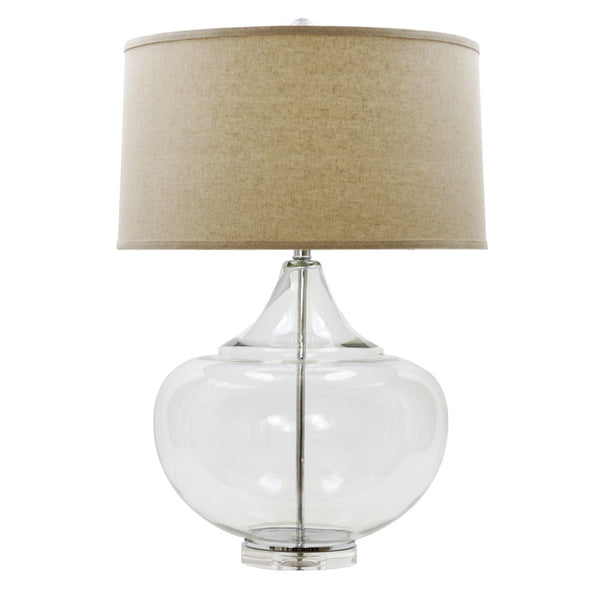Lillian Home Mamba Clear Glass Table Lamp