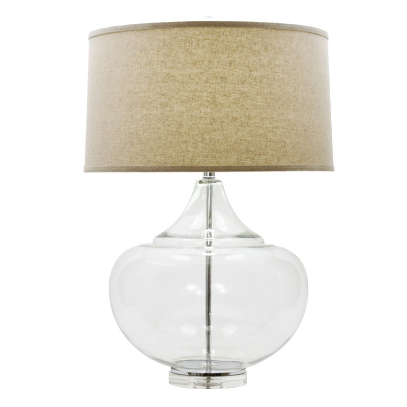 Mamba Clear Glass Table Lamp - Lillian Home