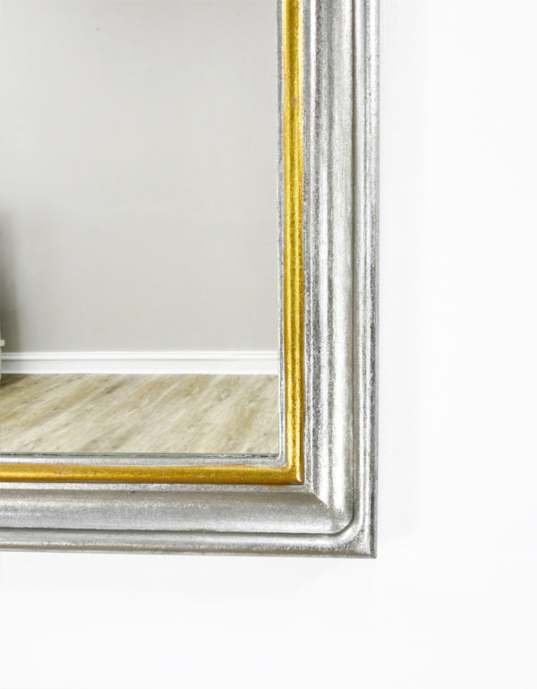 Tallulah Silver and Gold Louis Philippe Mirror- Lillian Home