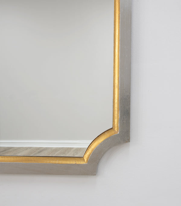 Tulip Silver And Gold Wall Mirror- Lillian Home
