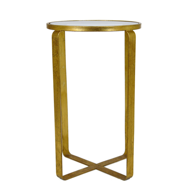 Vincent Gold Leaf Side Table