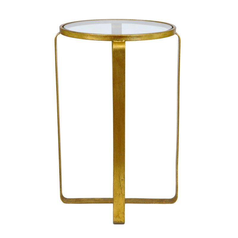 Vincent Gold Leaf Side Table - Lillian Home