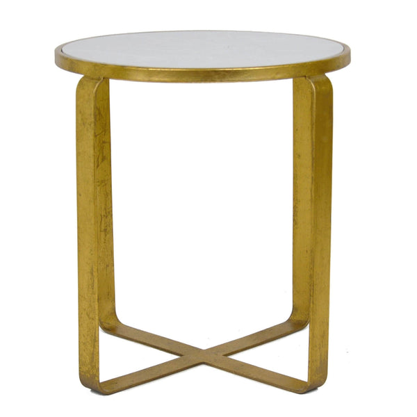Eve Gold Leaf Stone Top Side Table