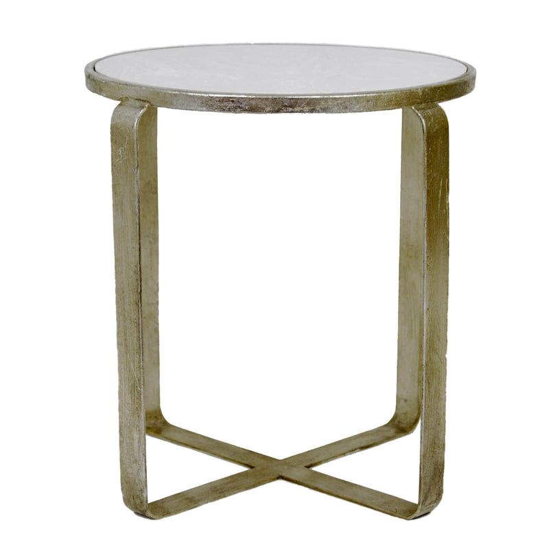 Eve Silver Leaf Stone Top Side Table