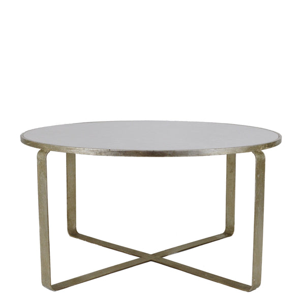 Donnas Silver Leaf Stone Top Coffee Table - Lillian Home
