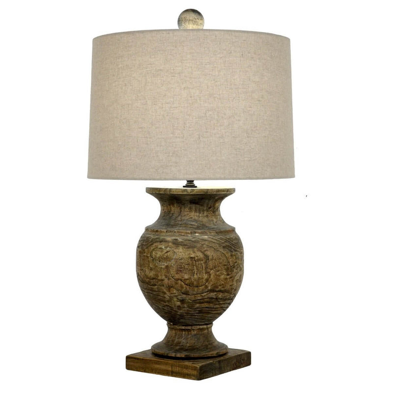 Antique Andreas Solid Wood Table Lamp | Lillian Home