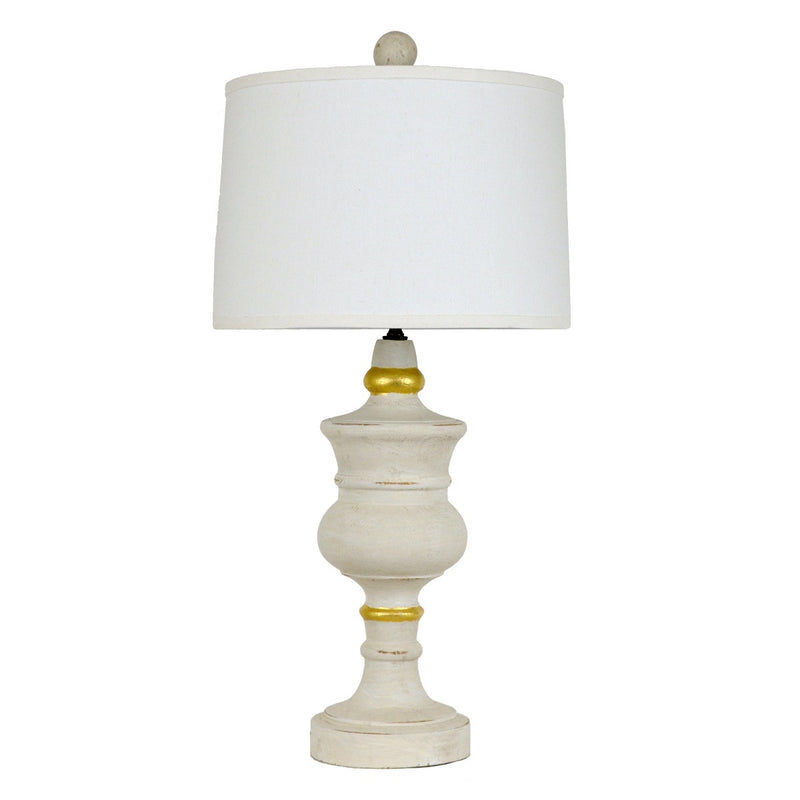 Raymond Solid Wood White Table Lamp | Lillian Home | Buy Now