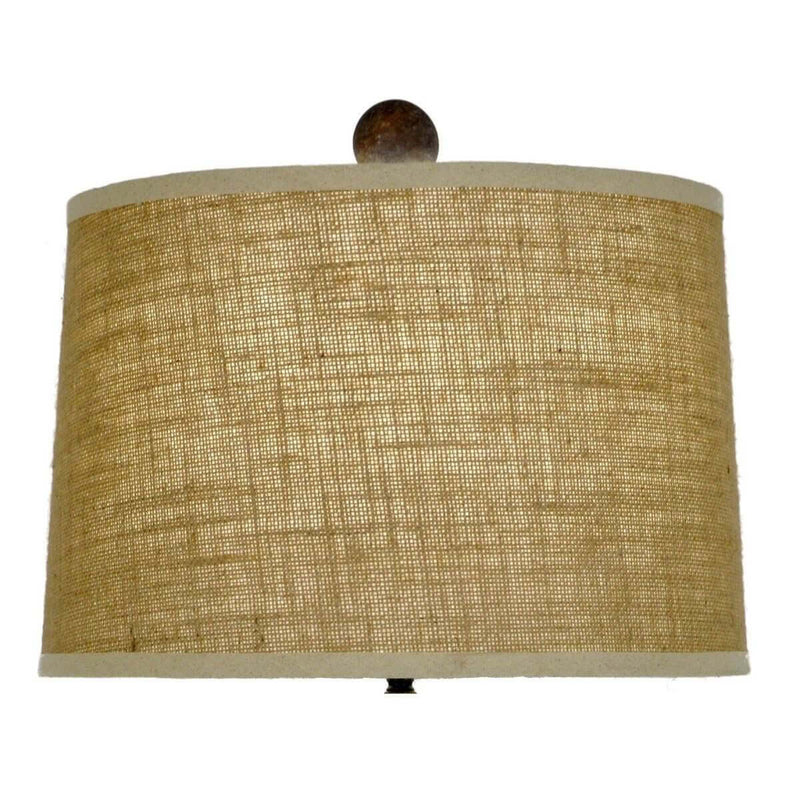 Sasha Solid Wood Table Lamp - Carved Wood Table Lamps