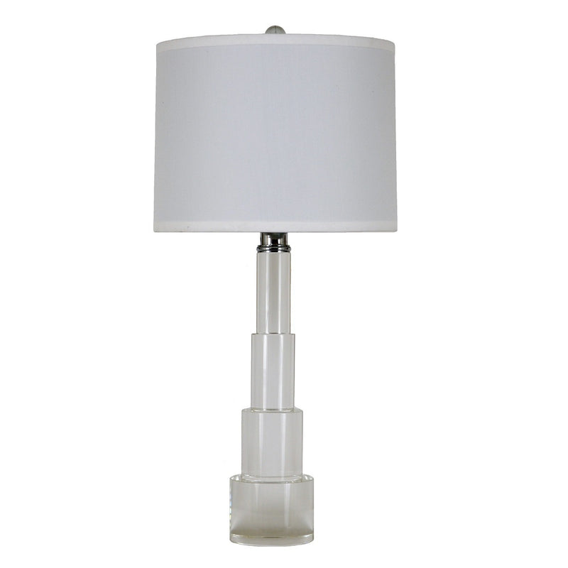 New York Solid Crystal Table Lamp | Lillian Home
