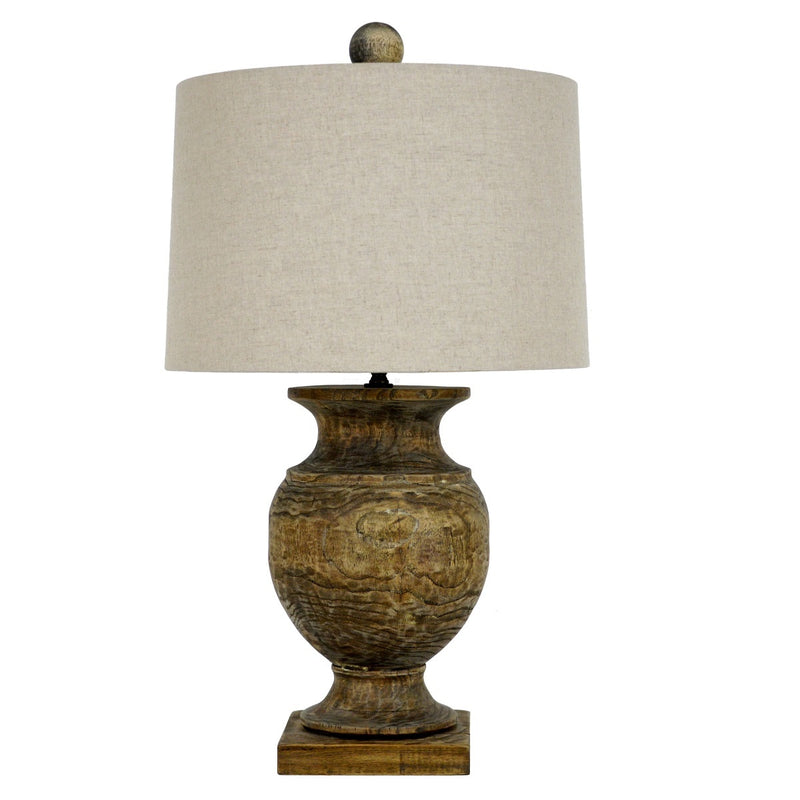 Unique Andreas Solid Wood Table Lamp | Lillian Home