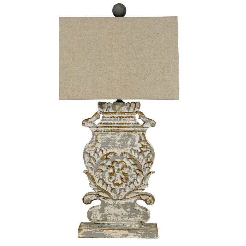 Lyle Carved Wood Table Lamp | Lillian Home | Shop Now