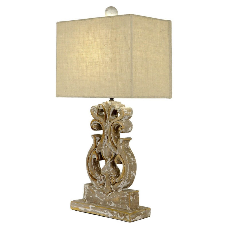 Seren Carved Wood Table Lamp | Lillian Home | Shop Now