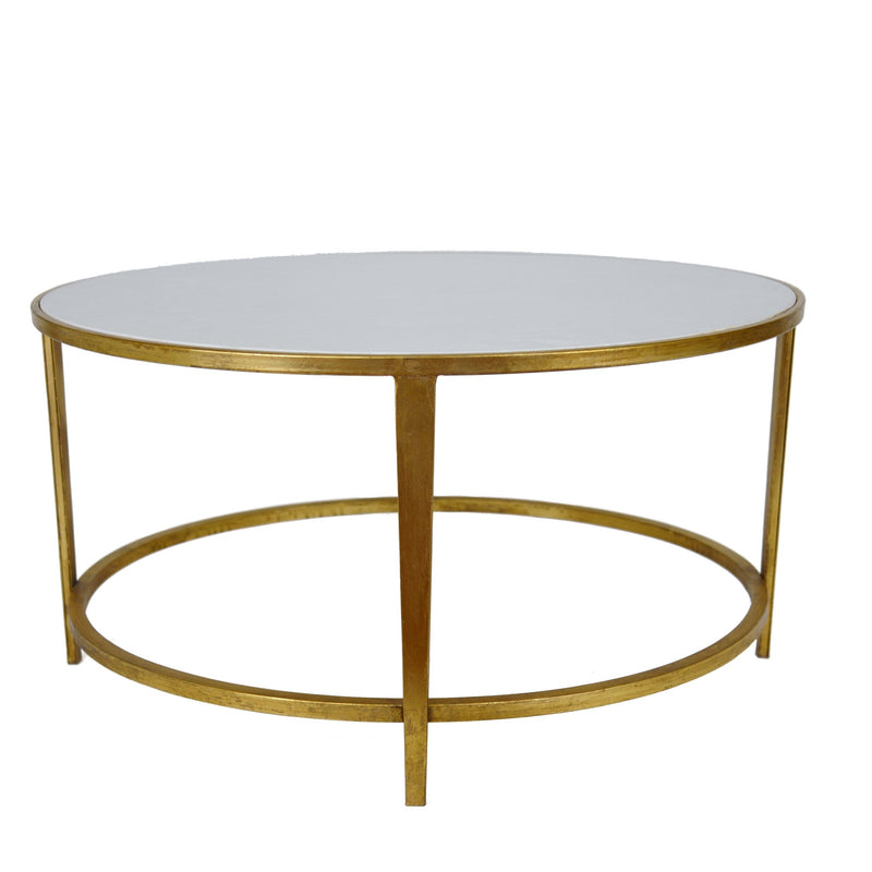 AUGUSTINE ROUND GOLD COFFEE TABLE