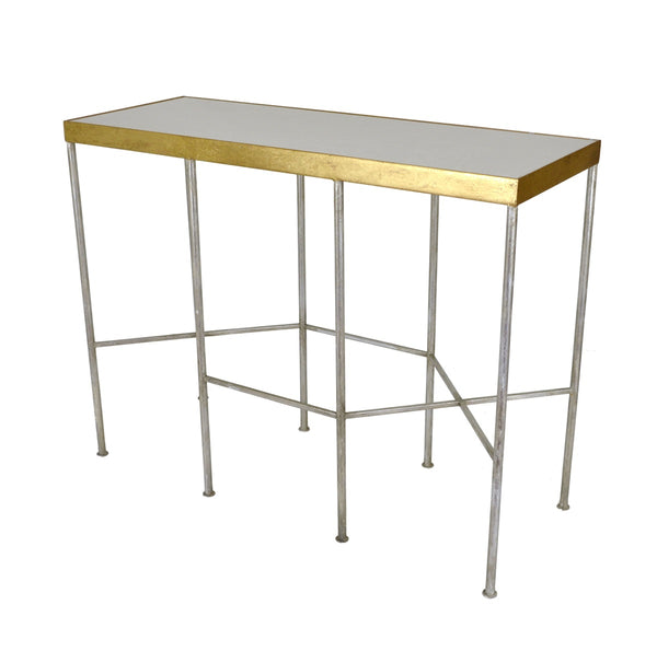 Alai Silver and Gold Console Table - Lillian Home