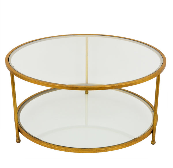 Lilia Gold Round Coffee Table - Lillian Home