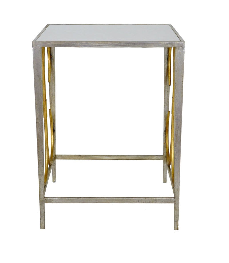 Anaisam Silver Leaf Table with Stone Top