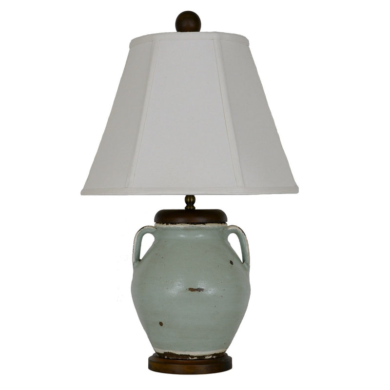 Gianni Turquoise Pottery Table Lamp - Lillian Home