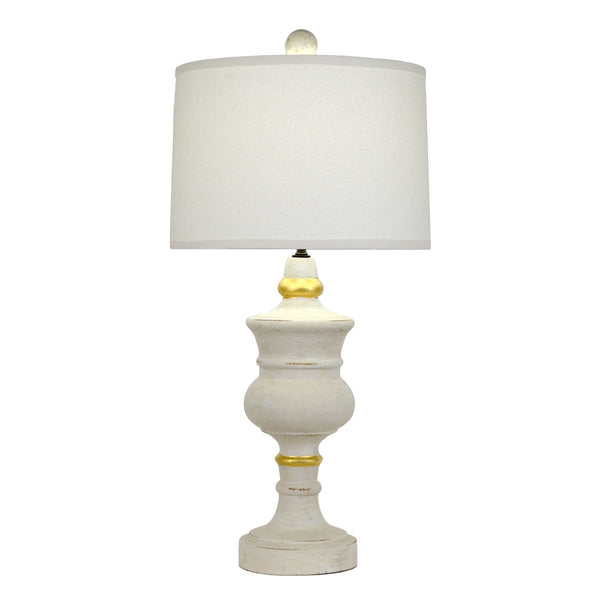 Raymond Solid Wood White Table Lamp - Lillian Home