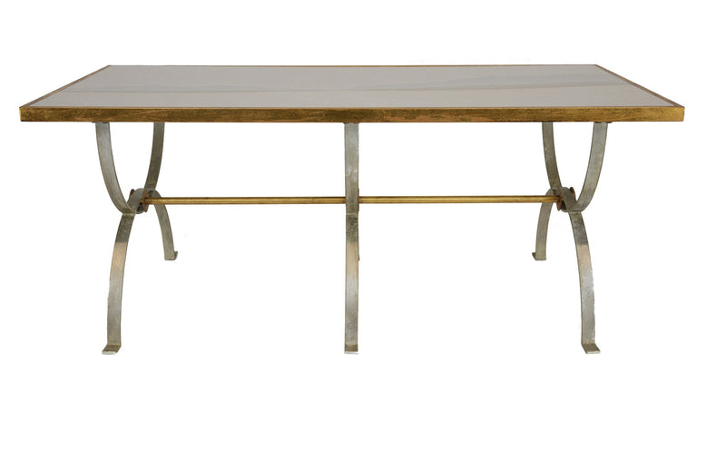 Castle Silver Leaf Dining Table