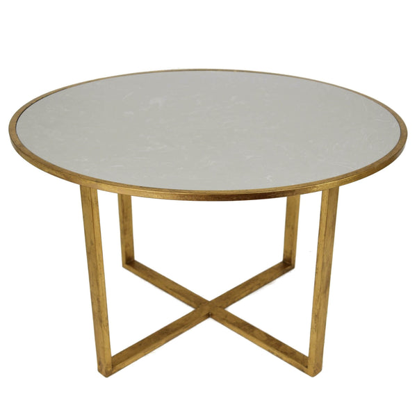 Queen Gold Leaf Round Dining Table - Lillian Home