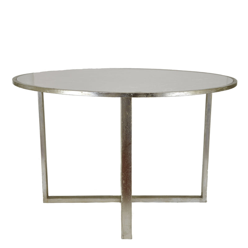 Queen Silver Leaf Stone Top Dining Table - Lillian Home