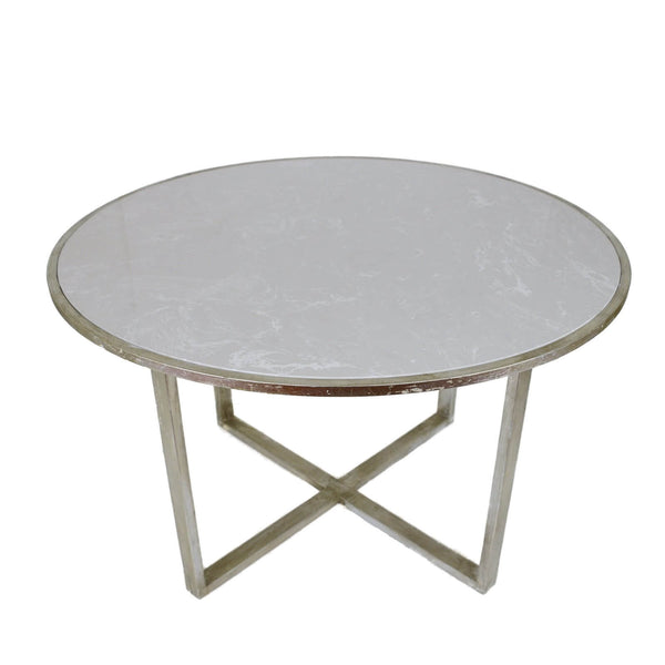 QUEEN SILVER LEAF DINING TABLE