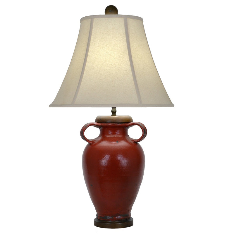 Kinsley Red Pottery Table Lamp - Lillian Home