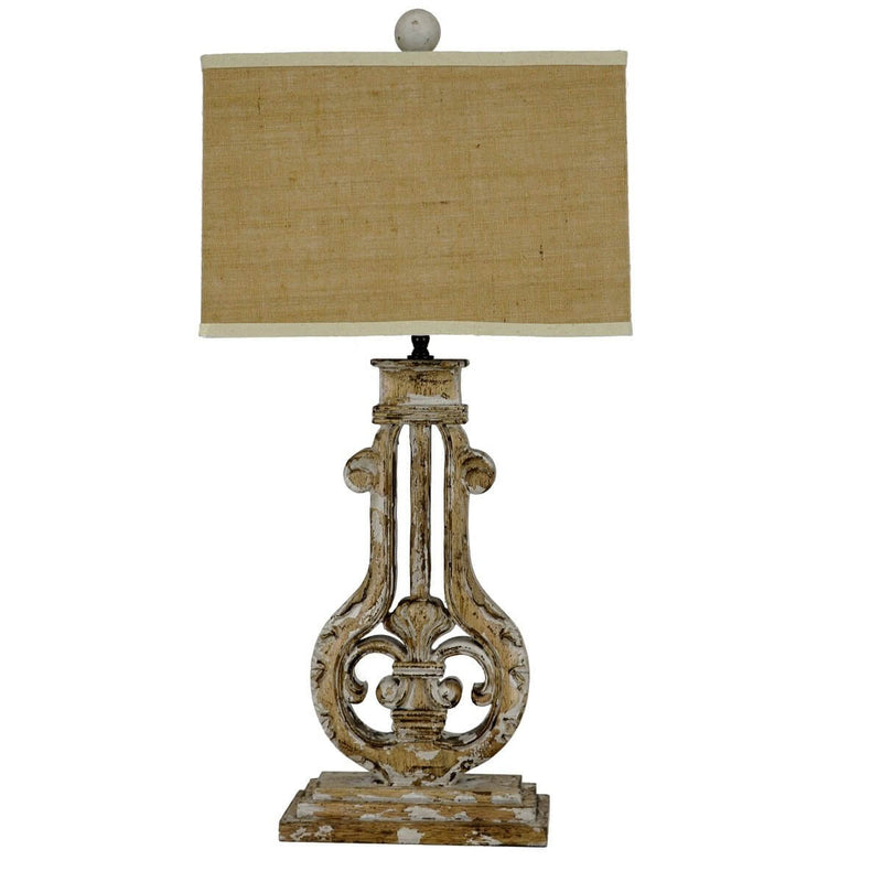 Bruno Carved Wood Table Lamp | Lillian Home | Shop Now