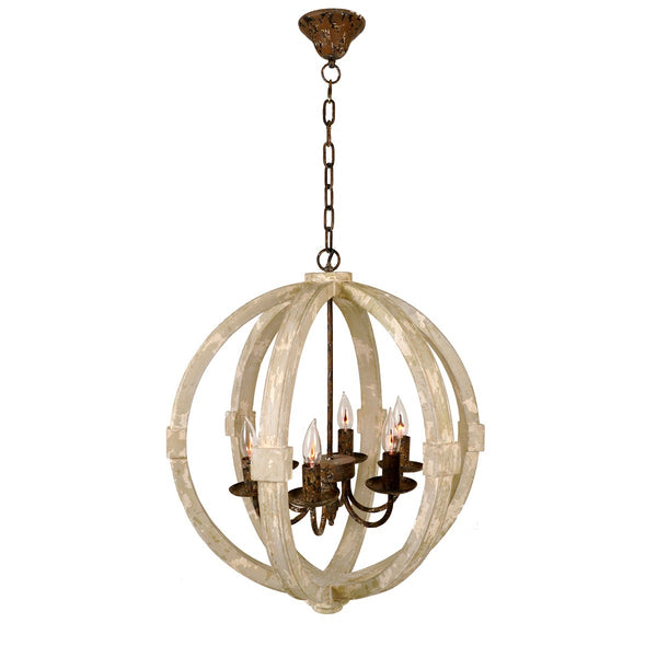 Oslo 6 Light Round Lantern - Lillian Home