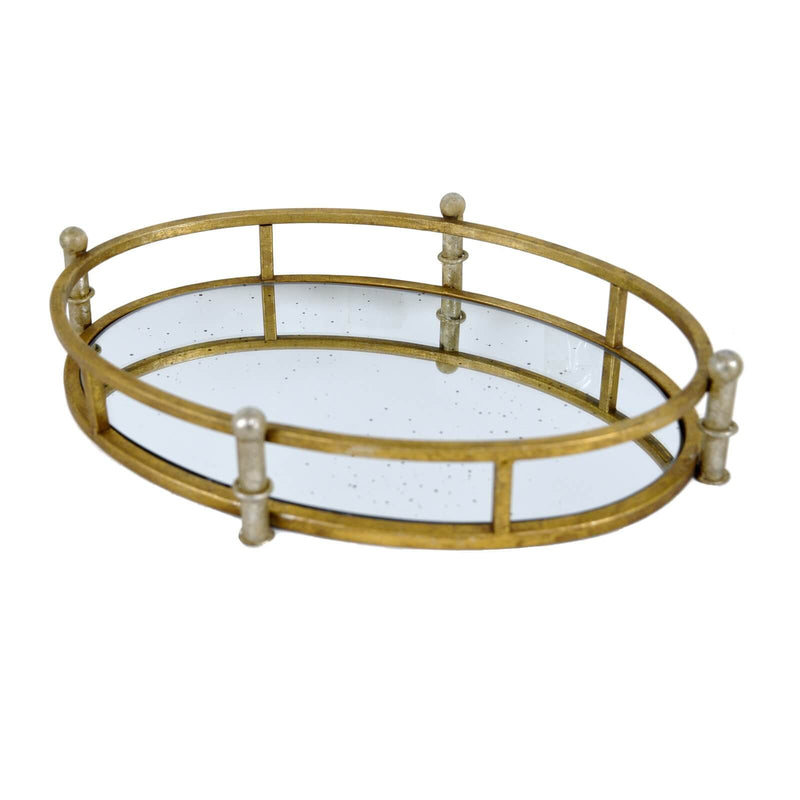 City Gold Leaf Tray - Lillian Home