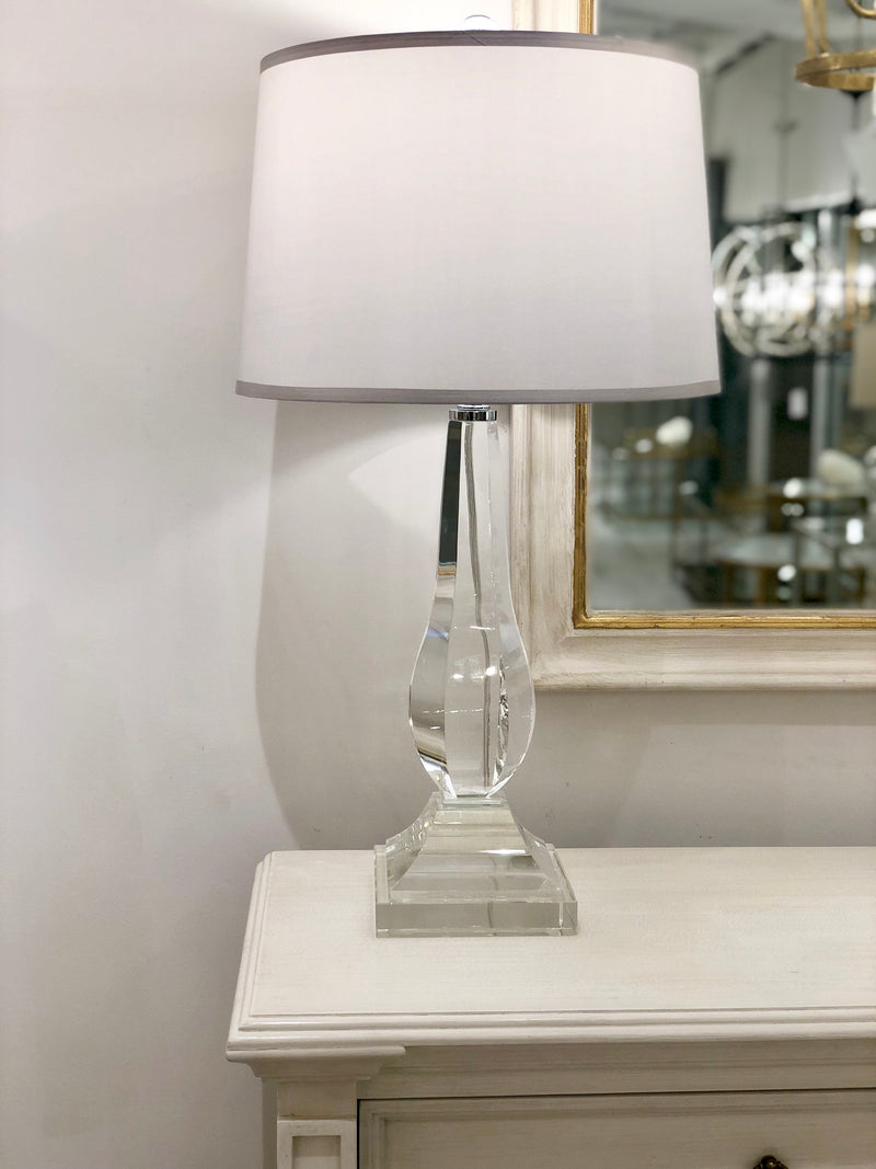 Erin Crystal Base Contemporary Floor Lamps |  Lillian Home