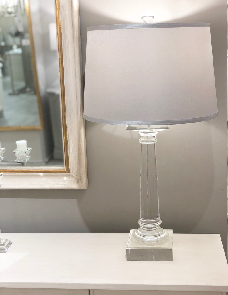 Mason Solid Crystal Table Lamp