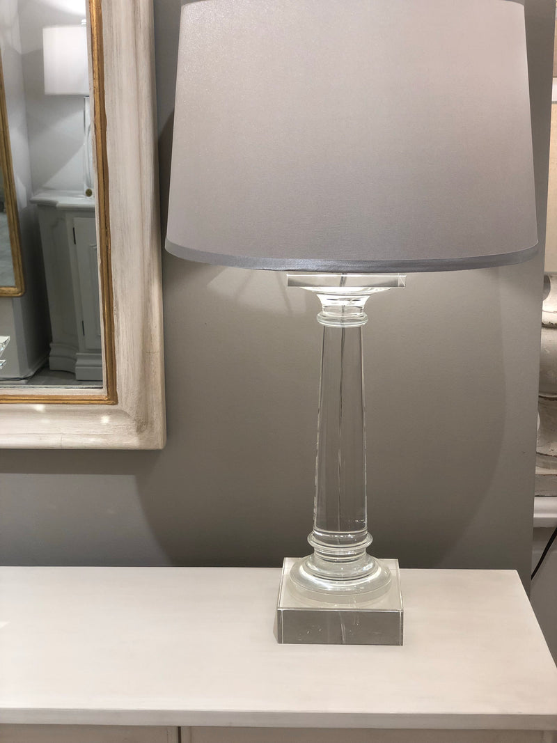 Mason Solid Crystal Table Lamp - Lillian Home